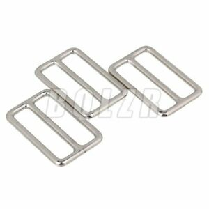 """1.50"""" Welded Tri-glides Buckles Set of 10 Silver"""