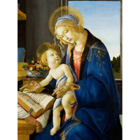 Botticelli The Virgin And Child The Madonna Of The Book Canvas Art Print Poster