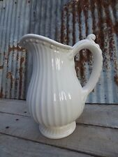 PITCHER/ AMERICAN ATELIER 64OZ. PITCHER/ WHITE VASE/ COTTAGE, FARMHOUSE, WEDDING