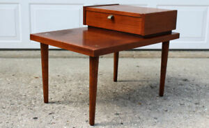 American of Martinsville end table by Merton Gershun step back mid century