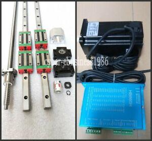 HGR20-400/500/500mm Linear Rail & RM2005-400/500/500mm ballscrew &BK/BF15 Kit