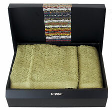 MISSONI HOME SET ASCIUGAMANI TESSUTO OPERATO ORIO 61 TOWELS SET  GIFT BOX