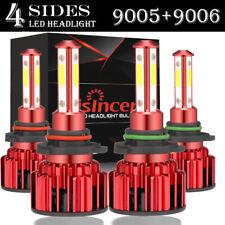 New listing 4-Side 9005 9006 Combo Led Headlight Kit High Low Beam Bulb 6000K 220W 32000Lm