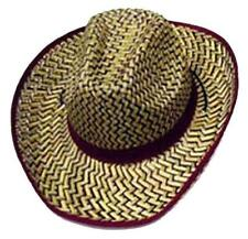 2 MAROON ZIG ZAG STRAW COWBOY HAT #111 country western hats mens ladies rodeo