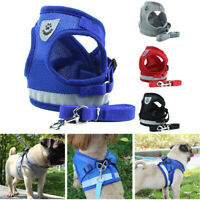 Small Medium Dog Nylon Mesh Harness Puppy Lead Leash Vest For Outdoor Walking