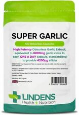 Super Garlic 6000mg 120 Capsules Lindens Health + Nutrition (0960)