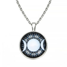 Women Fashion Triple Pendant Witchcraft Moon Goddess Jewelry Moon Necklace TR