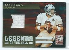 2011 Donruss Elite Legends of the Fall Tony Romo GU JERSEY RELIC 65/299