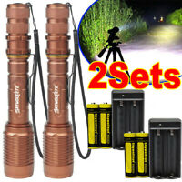 Tactical Police 150000LM T6 LED 5Modes 18650 Aluminum Zoom Flashlight Torch US *