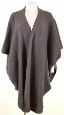 VALENTINO Womens Poncho Size 8 Small Grey Wool  NS15