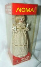 Noma 10 Lite Angel Tree Topper Vintage 80s 90s Works! Pretty! in Box 9 1/2""