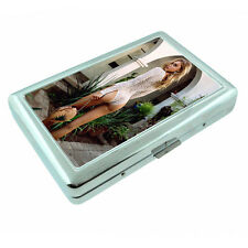 German Pin Up Girls D12 Silver Metal Cigarette Case RFID Protection Wallet