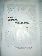 How To Prevent And Remove Mildew Home Methods Bulletin 1960