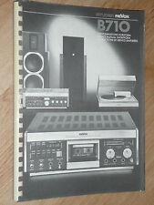 REVOX  B 780   instructions de service simplifiées