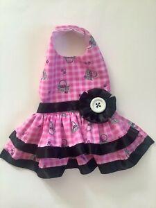 Picnic doggie dress handmade size Xs