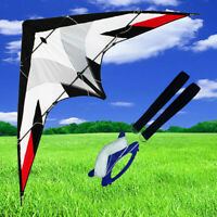 NEW 5.9ft 1.8m dual line control stunt Kite for beginners Triangle Delta Outdoor