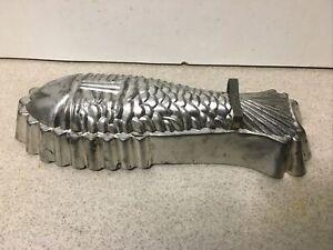 Vintage Metal Aluminium Fish Shape Jelly Mousse Mould