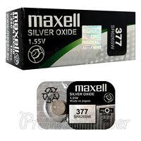 2 x Maxell 377 Silver Oxide batteries 1.55V SR66 SR626SW 376 Watches 0% Mercury