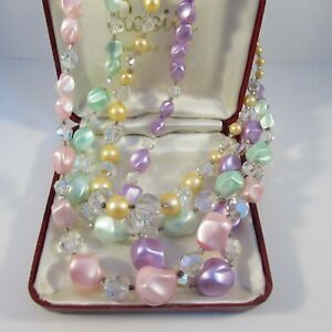Vintage Jewellery Lot-4 Deadstock Necklaces for Wear, Resell or Bead Harvest