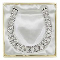 Diamante Wedding Horseshoe Favour Gift & Keepsake LP16490