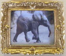1:12 Foto Enmarcada (impresión) de un elefante Casa de muñecas en miniatura Arte Accesorio B