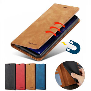 Magnetic Flip Wallet Case Card Leather Cover for Samsung Galaxy S10e S9+ S8+ S7