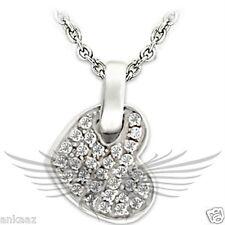 Brilliant Grade AAA Cubic Zircon CZ 925 Sterling Silver Heart Pendant 23311