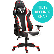 RG-MAX Pro Reclining Sports Racing Gaming Office Desk PC Fx Leather Chair Red