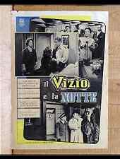 IL VIZIO E LA NOTTE fotobusta poster affiche Gabin Le désordre et la nuit F3