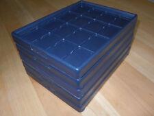 5 Schmuck Tabletts Laden zur Präsentation, 16 Fächer, hohe Form, Kling REBRA