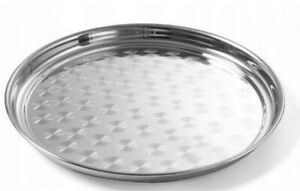 Stainless Steel Round Serving Tray ¦ Indian Thali Platter ¦ Dish Food Plate