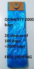 poly newspaper bags, 2000 ct. Blue 5 1/2'x19' Dog Poop pet waste 5.5x19