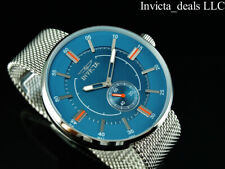 NEW Invicta Men's 52mm VINTAGE RACER Quartz BLUE DIAL Mesh Bracelet SS Watch
