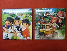 2 x Playmobil DVD: COUNTRY (Horses) & THE EXPLORERS New & Sealed