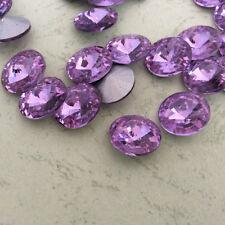 6mm Rivoli Lt Amethyst Rhinestones Crystal Glass Chaton Strass Beads 20ps U1