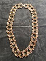 Vintage NAPIER Gold Tone Heavy Chain Necklace
