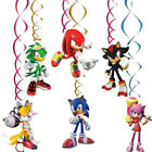 Sonic The Hedgehog Plate Banner Cake Toppers Party Tableware Birthday Decoration