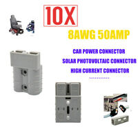 10× New UK RV Eletronic Plug 50 Amp Caravan Battery Power Connector Plugs 8AWG