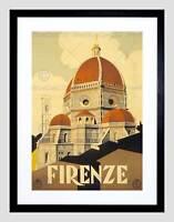 TRAVEL FLORENCE ITALY BASILICA SANTA MARIA FIORE FRAMED ART PRINT B12X11342