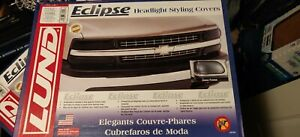 Ford 92-96 F150 92-98 F250 F350 Acrylic Smoke Headlight Covers LUND 36201