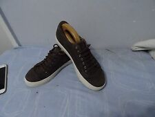 MENS MASSIMO DUTTI BROWN ELASTIC BASKET DESIGNEDLEATHER SNEAKERS SHOES SIZE UK 8