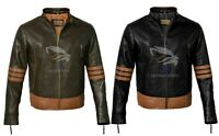 X-Men Wolverine Origins Bomber Brown Real Genuine Leather Jacket XS S M L XL XXL