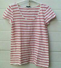 Maglia maglietta t-shirt maniche corte bianco e rosso a righe Pull&Bear taglia S