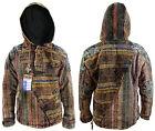 Half Gheri Cotton Hippy Bohemian Retro Button Jumper Coat Jacket Nepalese Hood
