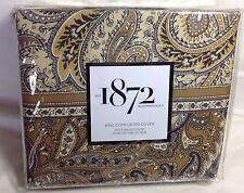 Bloomingdales 1872  MEERA King Duvet Cover 100% Cotton Sateen Retail $430 NWT