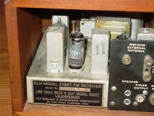 KLH MODEL EIGHT 8 RADIO RECEIVER BACK LABEL