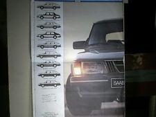 CATALOGUE/PROSPECTUS SAAB 900 turbo + GAMME 1982