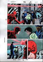 Original 1990's Daredevil 302 page 22 Marvel Comics color guide comic art: 1992