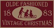 PRIMITIVE STENCIL OLDE FASHIONED VINTAGE CHRISTMAS 12X24 .007 MIL FREE SHIPPING
