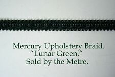 "Bottle Green Upholstery Braid ""Mercury Lunar Green"" 15mm wide(sold by the Metre)"